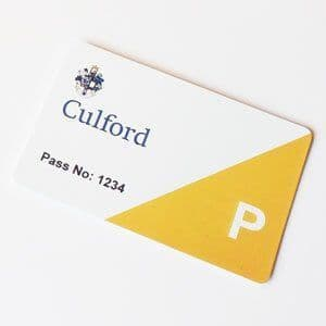 Personalised Car Parking Permit Passes